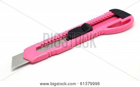 Pink Stationery Knife Or Boxcutter