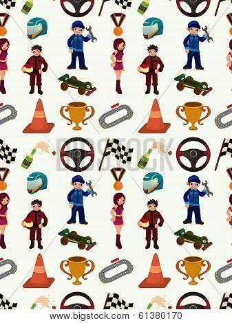 Seamless Racing Car Pattern