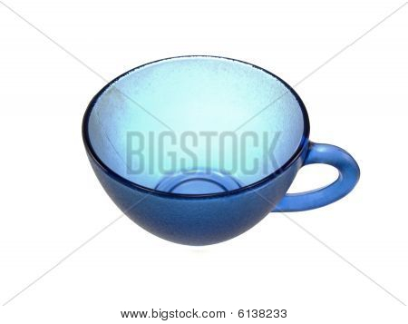 Dark Blue Glass Cup