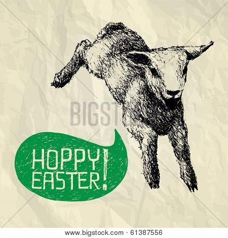Hoppy (jump) Easter! - Happy Easter Card
