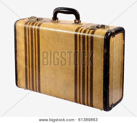 Old Vintage Rigid Frame Suitcase