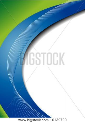 Green and blue abstract vector background