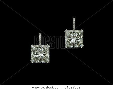 Princess Diamonds Earrings