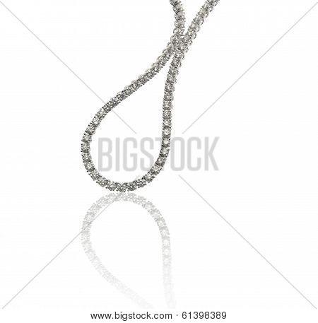 Diamonds necklace on background