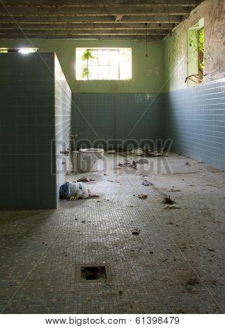 Abandoned Schoolhouse Locker Room
