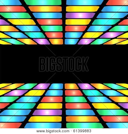 Abstract Geometric Pattern.colorful Background Of Colored Rectangles.shimmering Design.place For You