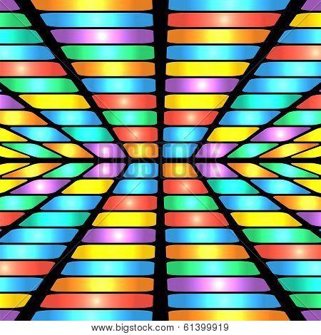 Abstract Geometric Pattern.colorful Background Of Colored Rectangles.shimmering Design.vector