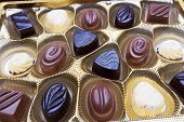 Close up shot of chocolates box