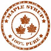 image of maple syrup  - Grunge rubber stamp with text Maple Syrup - JPG