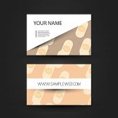 Business Card Template with Abstract Band-Aids Background