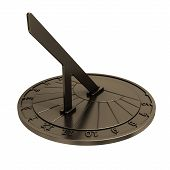 image of sundial  - A sundial is a device that tells the time of day by the position of the Sun - JPG
