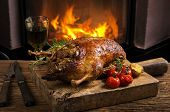 stock photo of barbary duck  - duck roasted - JPG