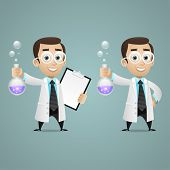 picture of mad scientist  - Illustration - JPG