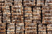 foto of coir  - coconut coir stack as background or texture - JPG