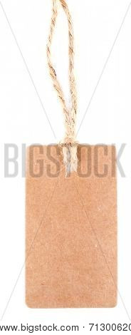 Brown tag isolated on white