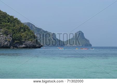 Beautiful Scenery With Tropical Sea And Islands