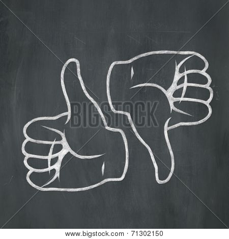 Chalk Thumbs Up & Down