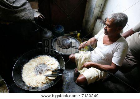 Man Making Puri