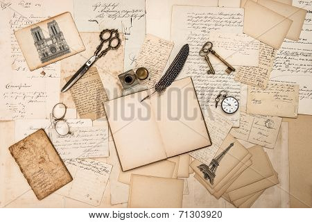 Antique Accessories, Paris Postcards, Old Letters, Ink Pen