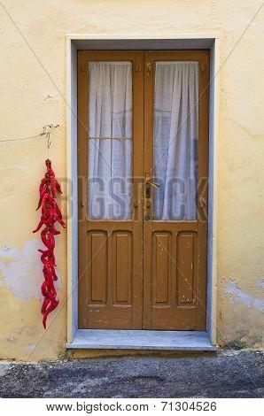 Wooden door. Genzano di Lucania. Italy.
