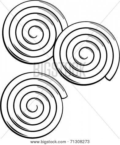 liquorice candy wheels