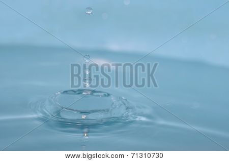 Falling Into Water Droplets