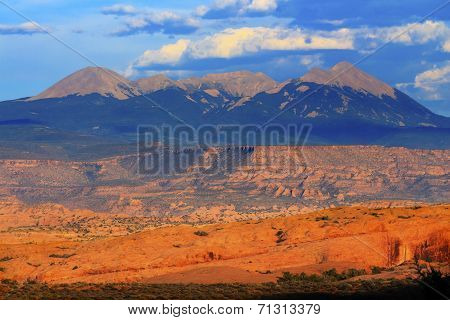 La Salle Mountains Rock Canyon Arches National Park Moab Utah