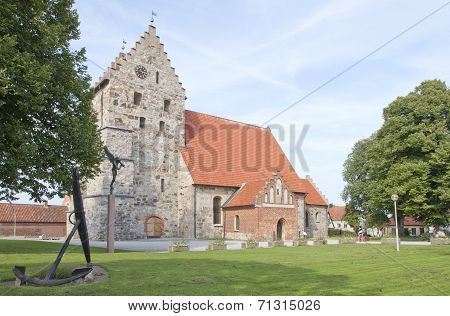 SIMRISHAMN, SWEDEN  ON SEPTEMBER 03. View of the Sankt Nicolai Church.