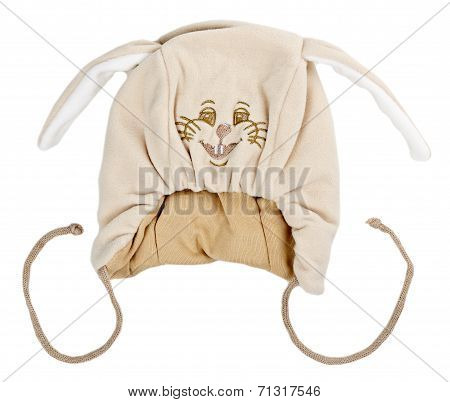 Beige Baby Warm Hat With Rabbit Snout