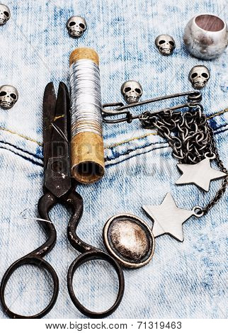 working sewing tools seamstress