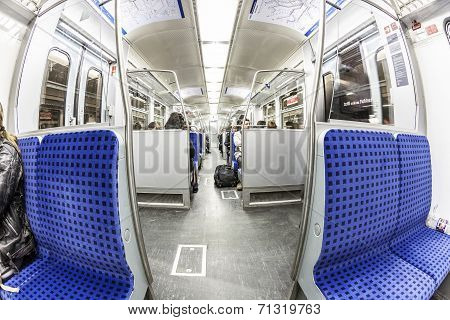 Train Compartment With People