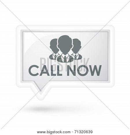 Call Now Words With Services On A Speech Bubble