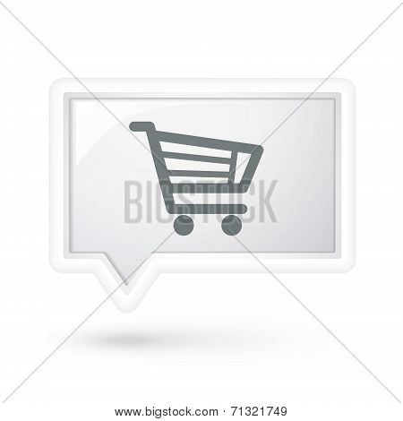 Cart Icon On A Speech Bubble