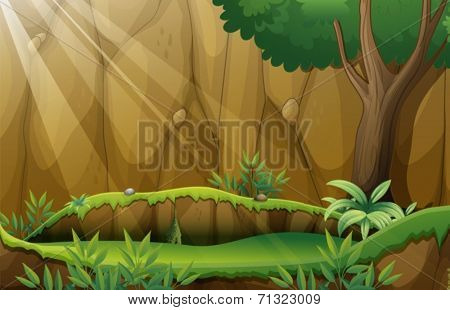 Illustration of a jungle scene