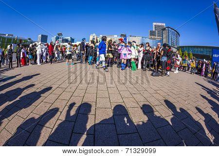 people made up as Manga at Frankfurt book fair