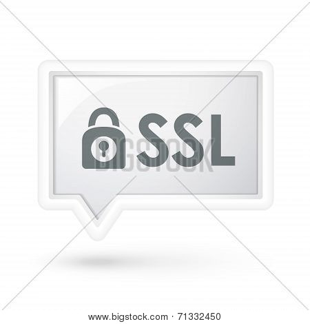 Ssl With Padlock Icon On A Speech Bubble