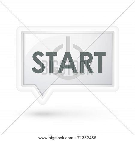 Start Word On A Speech Bubble
