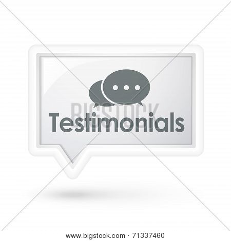 Testimonials Word On A Speech Bubble