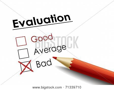 Cross Drawn On Evaluation Check Box