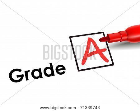 Close-up Look Of A Grade