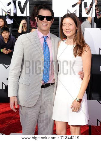 LOS ANGELES - APR 13:  Johnny Knoxville arrives to the 2014 MTV Movie Awards  on April 13, 2014 in Los Angeles, CA.