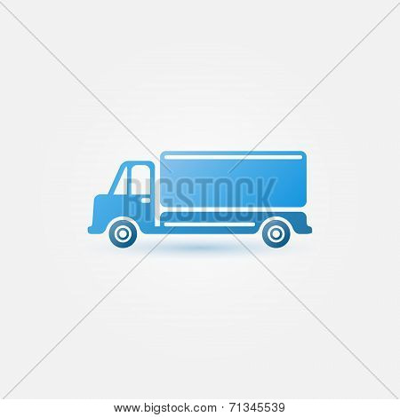 Blue vector car truck icon