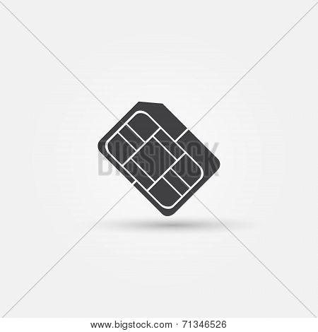 Micro SIM vector icon