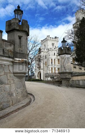 Castle Hluboka - beautiful landmark in Czech Republic