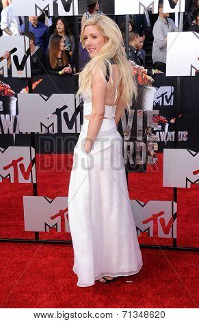 LOS ANGELES - APR 13:  Ellie Goulding arrives to the 2014 MTV Movie Awards  on April 13, 2014 in Los Angeles, CA.