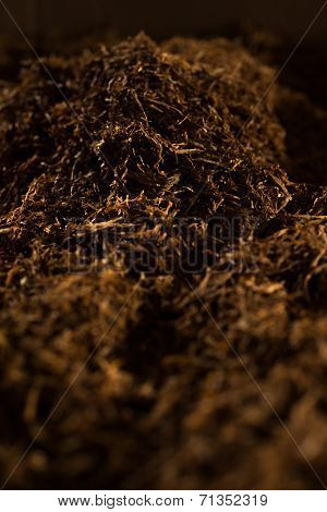 Fine Cut Tobacco Background Low Key