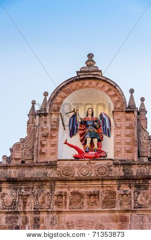Cuzco, Peru - The Cathedral of Cusco: Saint Michael Slaying the Devil