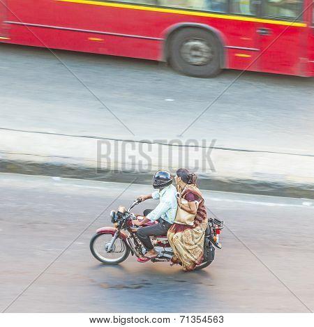 People On Motorbike In Jaipur