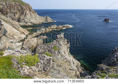 rocky coastline, French Beach trail
