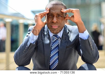 Businessman With Problems And Stress